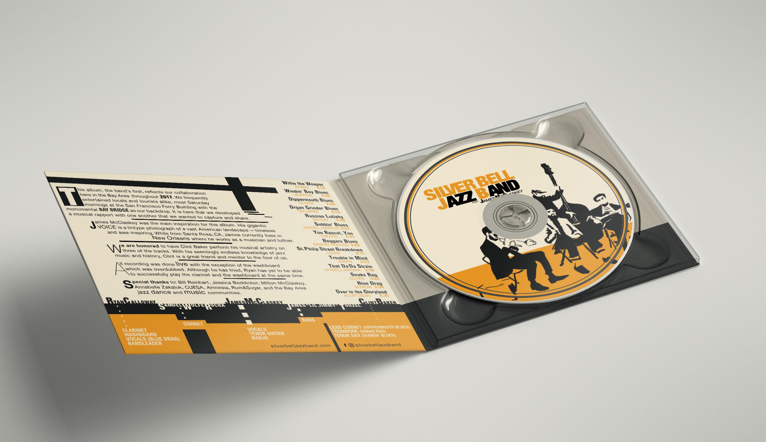 Silver Bell Jazz Band Final ALbum Design