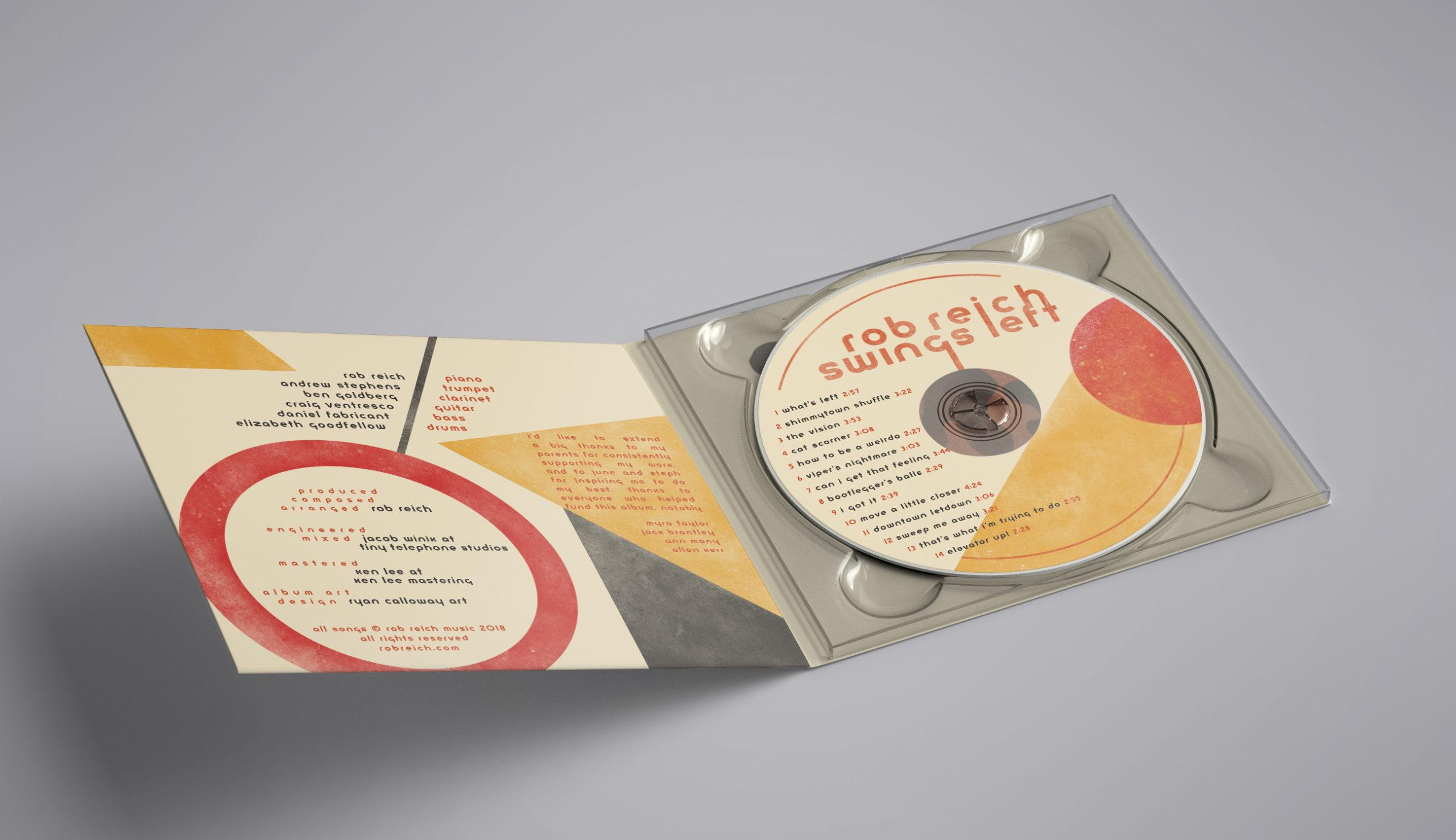 Final Album design Rob Reich Jazz Music