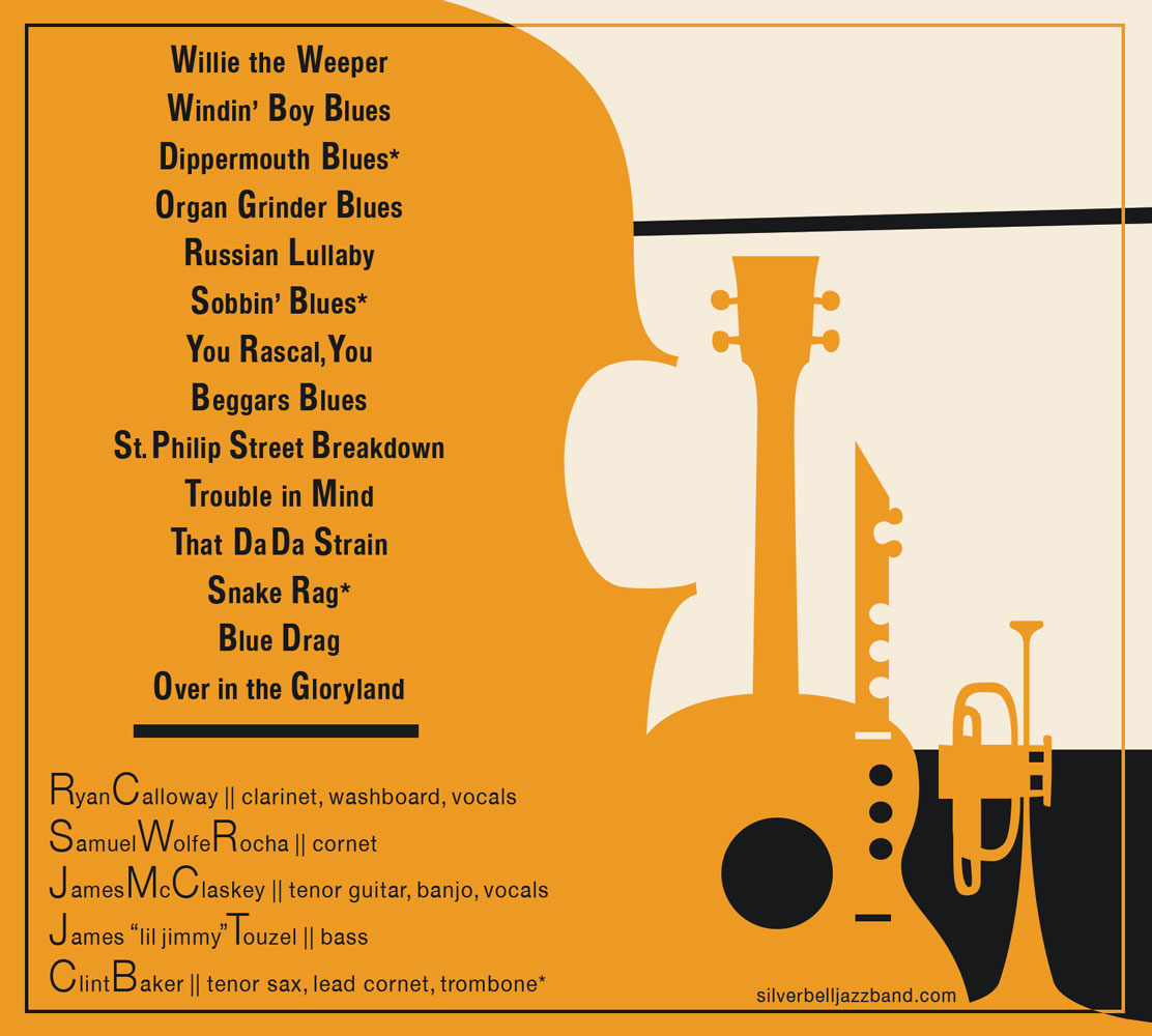 Silver Bell Jazz Band Final ALbum Design Interior Cover
