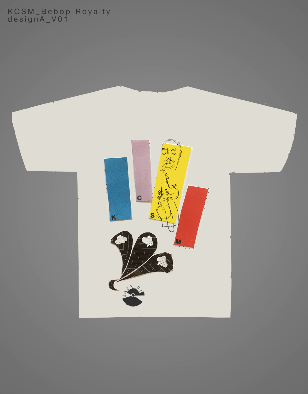 Bebop Royalty T-Shirt Design Process Image Paper cutouts