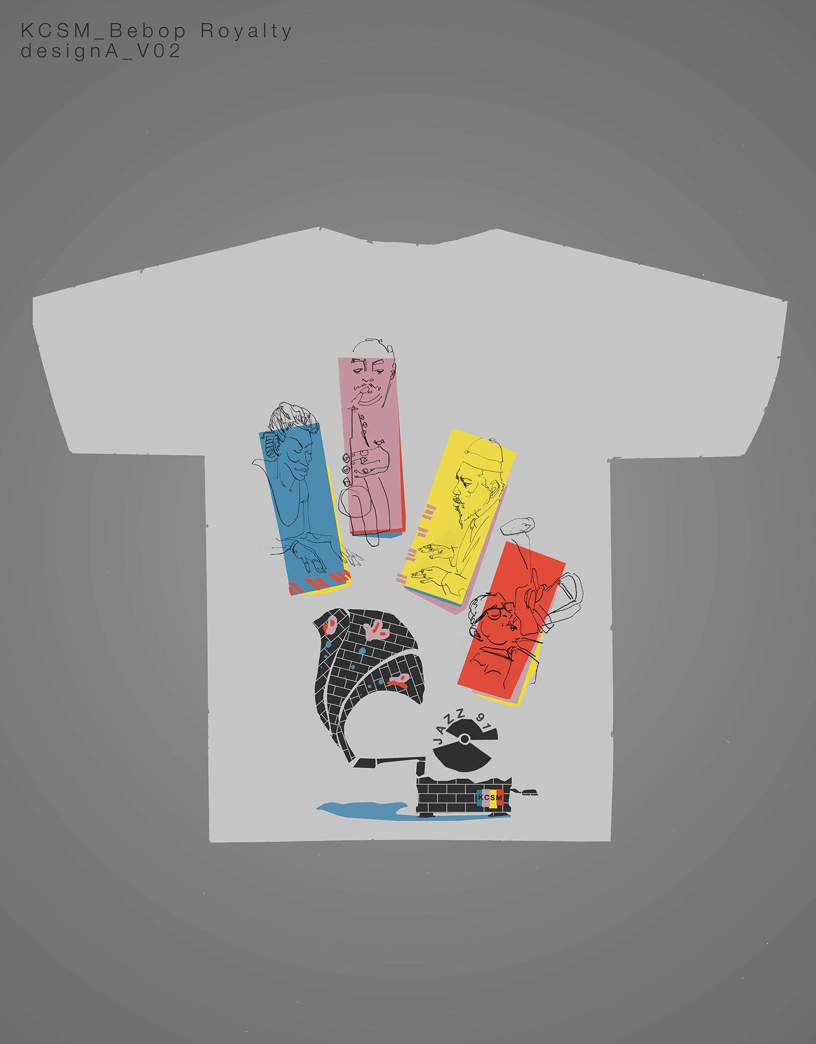 Bebop Royalty T-Shirt Design Process Image Final Draft