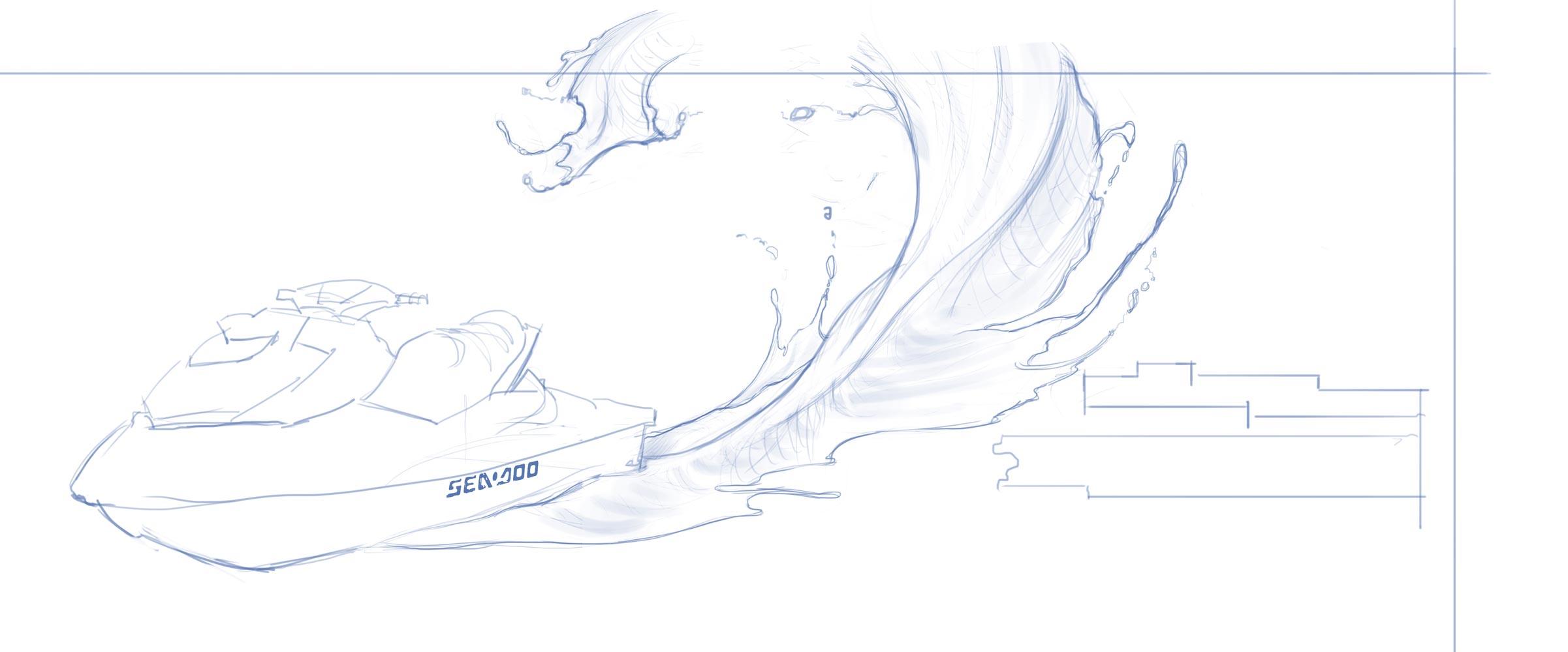 Sea-Doo Spark Paint Design sketch