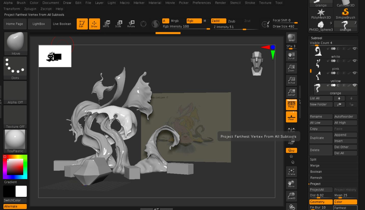 Sea-Doo Spark Paint Design ZBrush