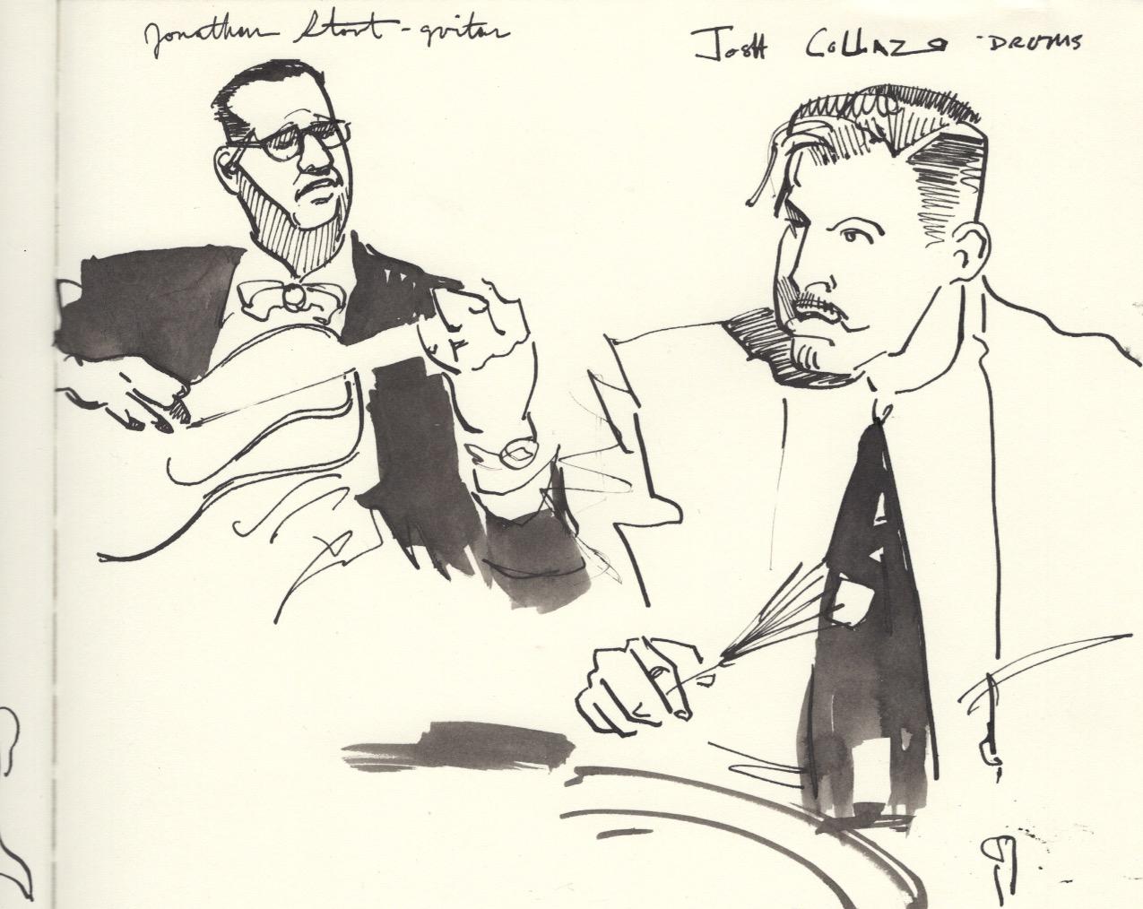 Candy Jacket Jazz Band Portrait Sketch