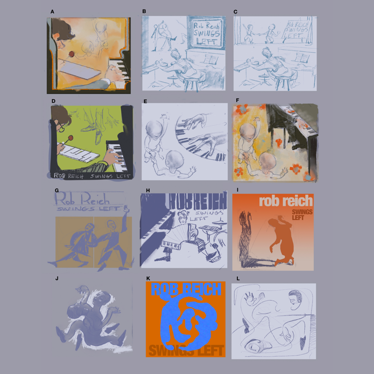 Design Rob Reich Jazz Music Process Thumbnail Sketches