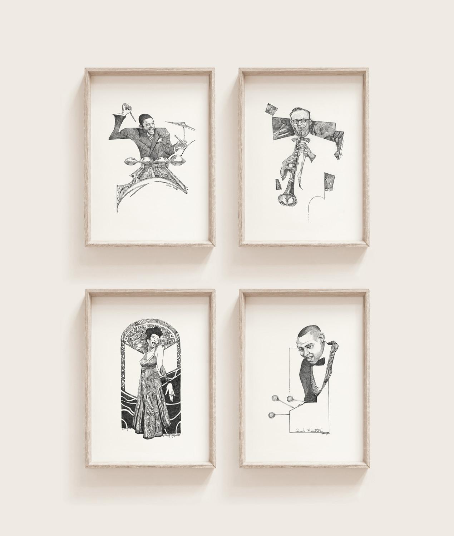 Masters of Swing Drawings, Framed Artwork