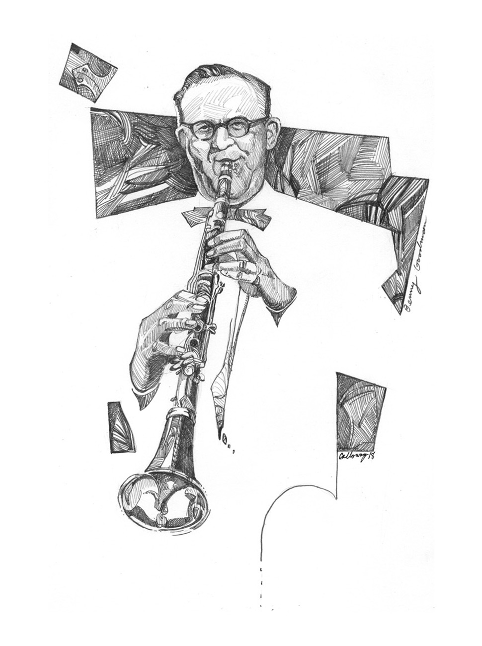Masters of Swing Drawing, Benny Goodman