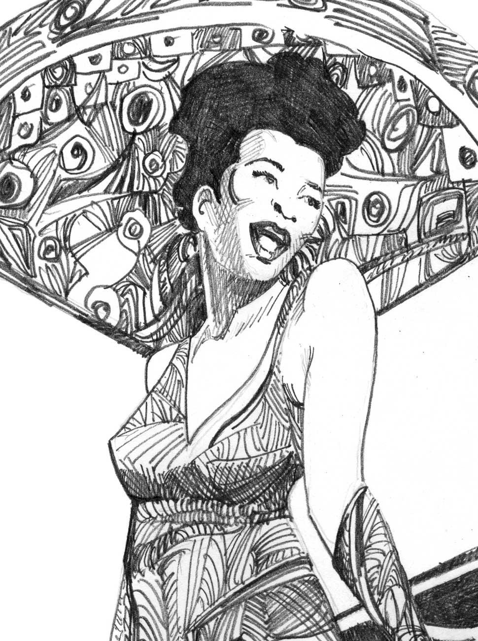 Masters of Swing Drawing, Ella Fitzgerald