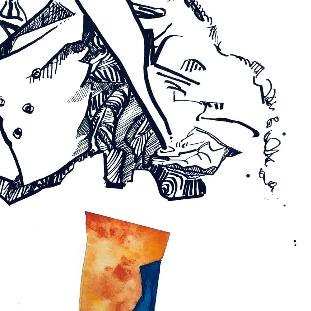 Rik Portrait Illustration Close up